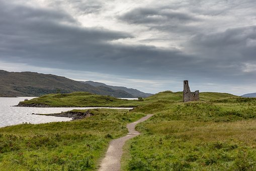 Scotland, Ruin, Church Ruins, Lake, Landscape