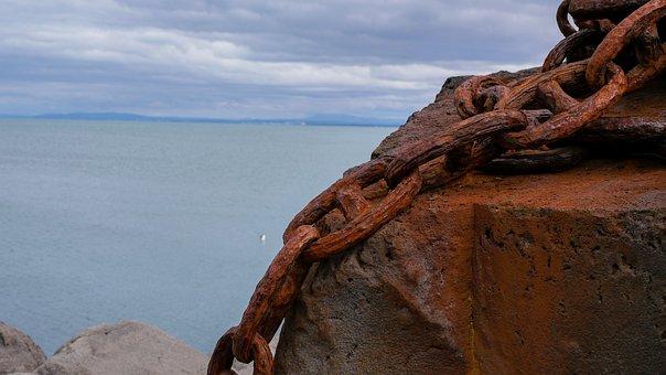 Ocean, Iceland, Chain, Rusty, Rust, Ship, Sea, Port