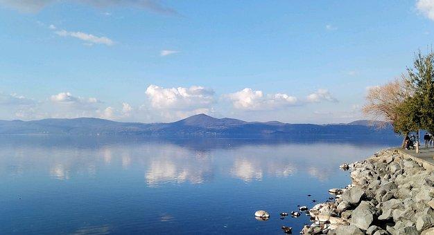 Lake Bracciano, Landscape, Sky, Bracciano''s Lake