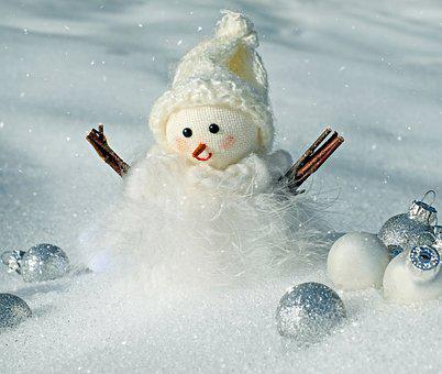 Snow Man, Snow, Winter, Cold, Wintry, Snowfall, Figure