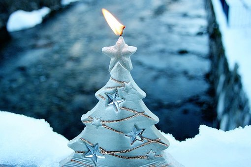 Asterisk, Candle, Christmas, The Scenery, Snow, Winter