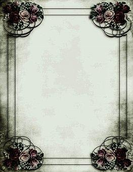 Vintage Shabby Chic, Victorian, Steampunk, Background