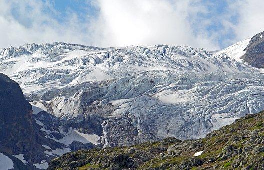 Switzerland, Stein Glacier, Susten Pass, Pass