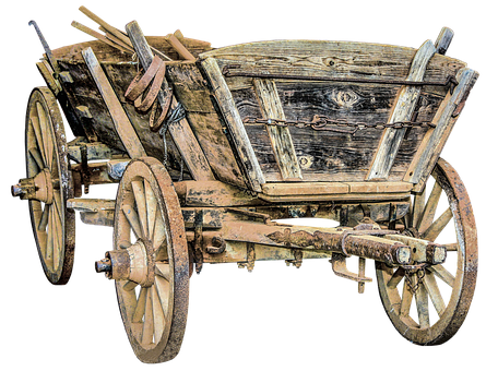 Dare, Horse Drawn Carriage, Wooden Wheels, Old, Farm