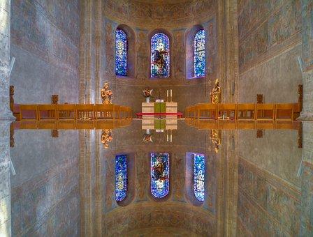 Dom, Church, Altar, Braunschweig, Mirroring, Mirror