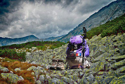 Tourism, Backpack, Equipment, Nature, The Stones, Sky