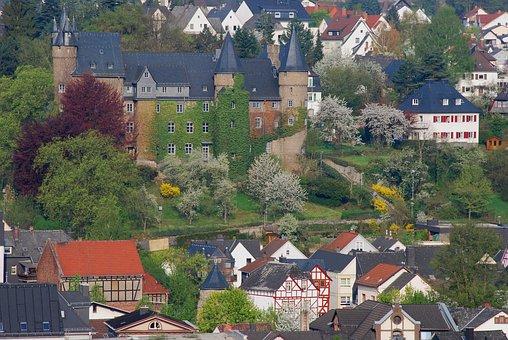 Castle, Middle Ages, Herborn, Historic Center