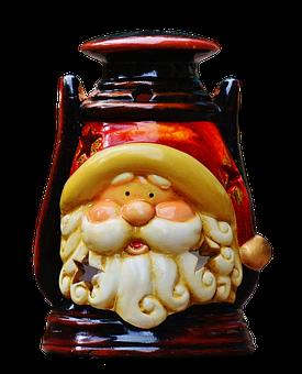Lantern, Christmas, Santa Claus, Lamp, Windlight