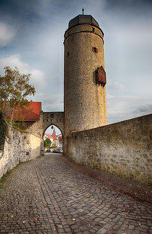 Defensive Tower, Tower, City Wall, Historically, Wall