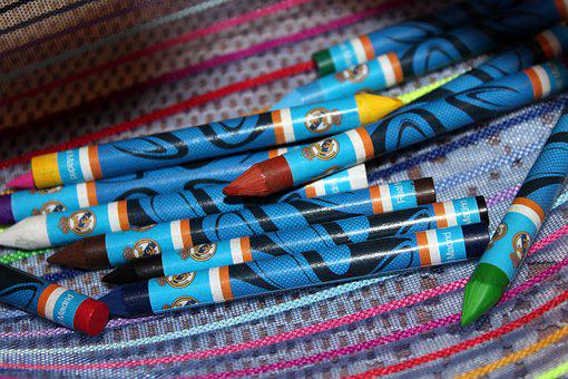Crayons, Kit, School Supplies, Coloring, To Draw, Child