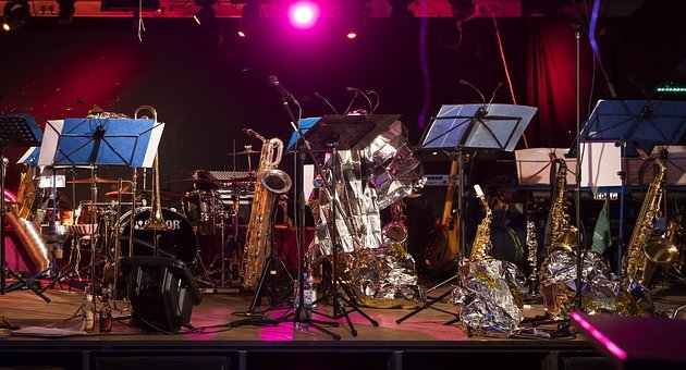 Stage, Instruments, Music, Musical Instruments, Concert