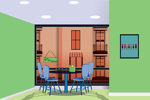 Openclipart, Restaurant, A Coffee Shop Café, Dining