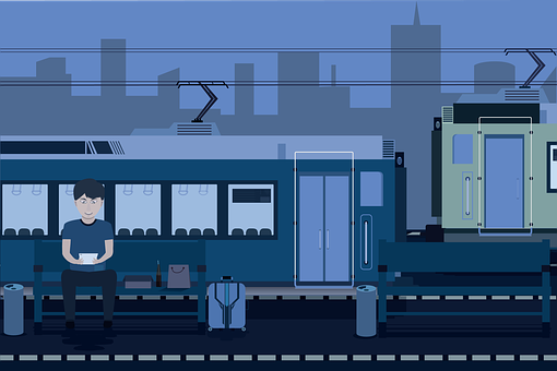 Openclipart, Train Station, Flat Design, Free