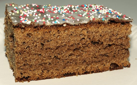 Spice Cake, Sugar Pearls, Cake, Frosting, Cuts