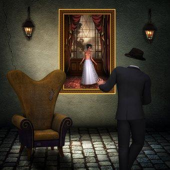 Man, Headless, Woman, Out Of Reach, Dreams, Digital Art