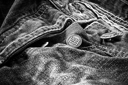 Jeans, Clothing, Pants, Fashion, Metal, Close Up