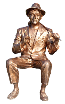 Bollywood, Kapoor, Raj, Actor, Sculpture, Copper