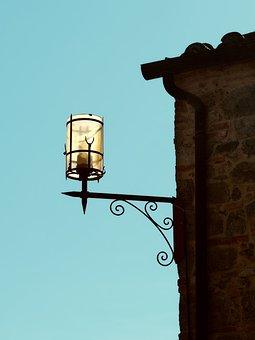 Tuscany, Lamp, Mediterranean, Italy, Toscana, Lighting