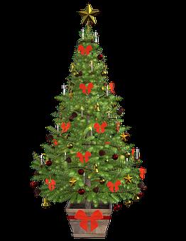 Christmas, Pine, Tree, Lights, Decoration, Pineapple
