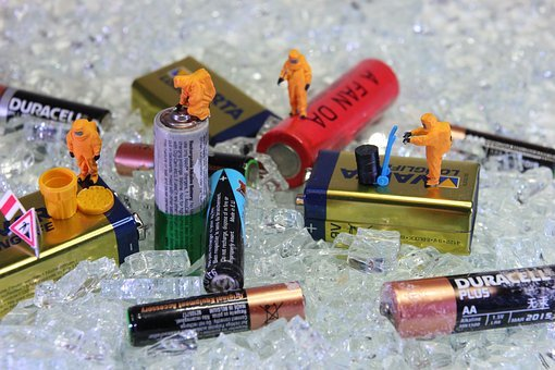 Recycling, Battery, Miniature Figures, Power, Energy