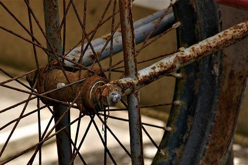Stainless, Bike, Wheel, Hub, Spoke, Old, Scrap