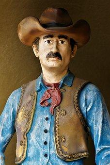 Cowboy, Sculpture, Art, Wild West, Reiter