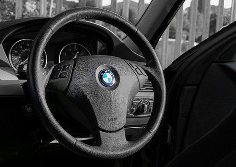 Bmw, Steering Wheel, Travel, Dashboard, Car, Steering