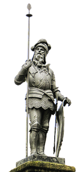 Landsknecht, Statue, Halberd, Knight, Stone Figure
