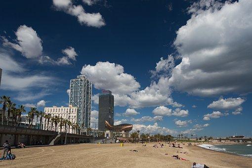 Barcelona, Beach, Spain, Resort, Sunny