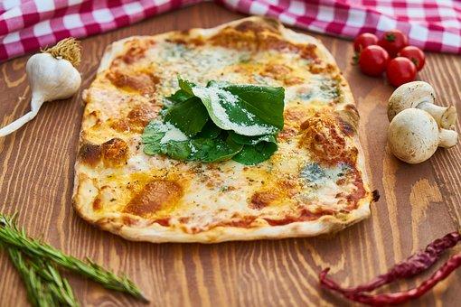 Pizza, Plate, Dough, Italian, Italy, Table, Flour, Food