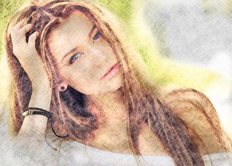 Woman, Girl, Beauty, Blond, Long Hair, Bracelet, Face