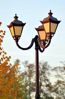Lantern, Park, Replacement Lamp, Antique, Autumn, Alley