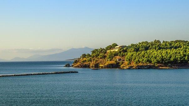 Landscape, Scenery, Coastline, Coast, Breakwater
