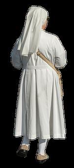 Nun, White, Religion, Woman, Christian