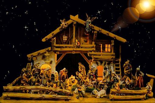 Christmas, Crib, Nativity Scene, Christ Child