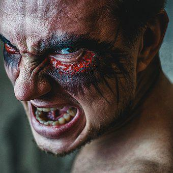 Daemon, Grin, Man, Portrait, Succubus, Person, Model