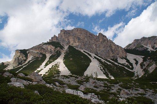 Mountain, Dolomites, Rock, Excursion, Nature