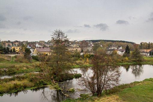 Drwęca, Lubich, Kayaks, River, Nature, Rafting