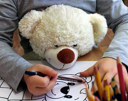 Child, Figure, Crayons, Drawing, Children, Coloring