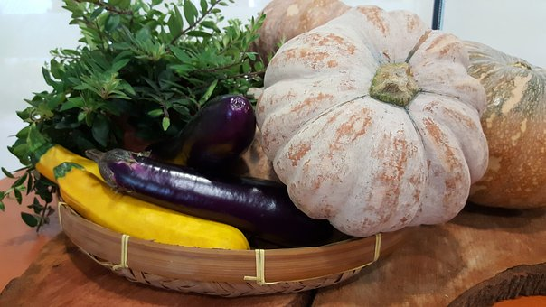 Pumpkin, Veg, Eggplant, Healthy, Food, Vegetable