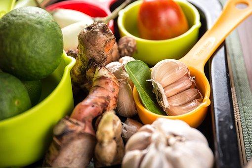Garlic, Herbs, Tomato, Food, Healthy, Fresh, Ingredient