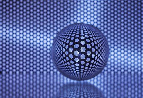 Ball, Glass, Grid, Glass Ball, Transparent