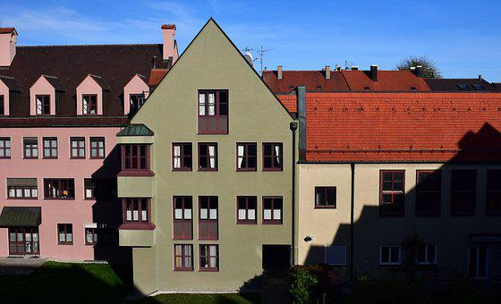 Homes, Old Town, Building, Historically, Augsburg, City