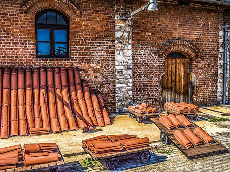 Old Factory, Industrial, Building, Brick Factory