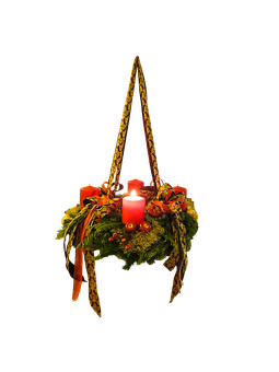 Advent, Christmas Time, Advent Wreath, Isolated, 1