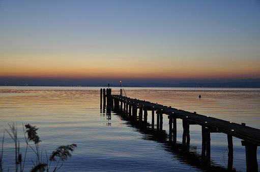 Lake Garda, Port State Control, Sunset, Jetty