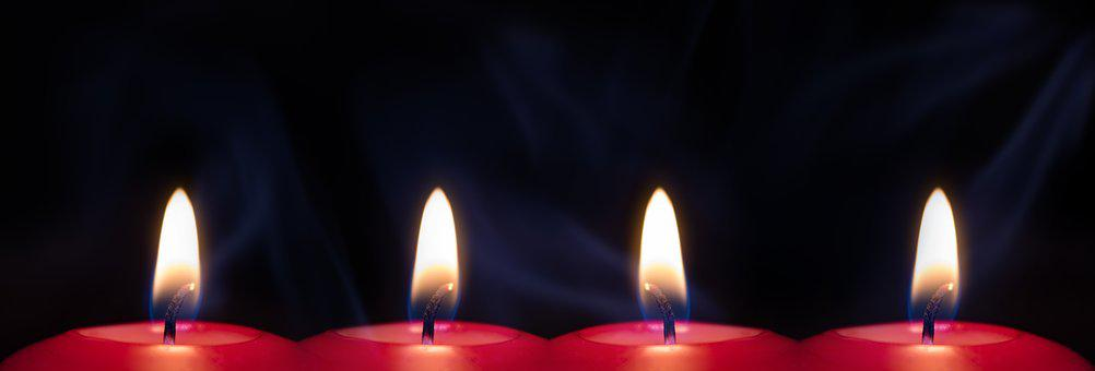 Candle, Flame, Light, Candlelight, Red, Mood, Advent