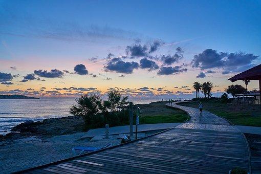 Beach, Sunrise, Mallorca, Morgenstimmung, Skies
