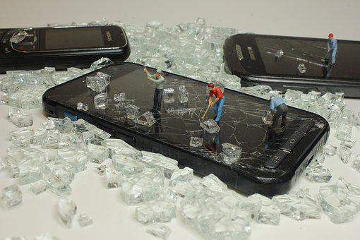 Recycling, Mobile Phone, Miniature Figures, Smartphone