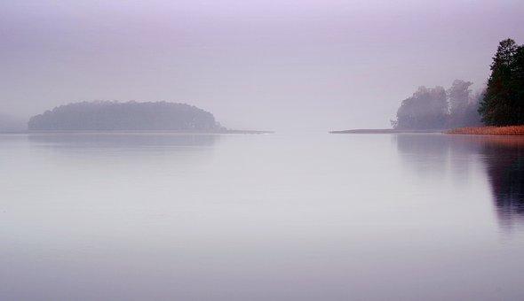 Lake, The Fog, Water, Morning, Dawn, Autumn, Landscape
